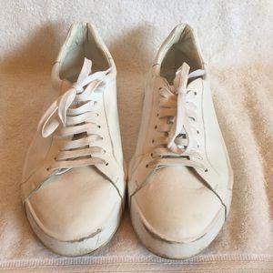 Jil Sander white leather sneaker